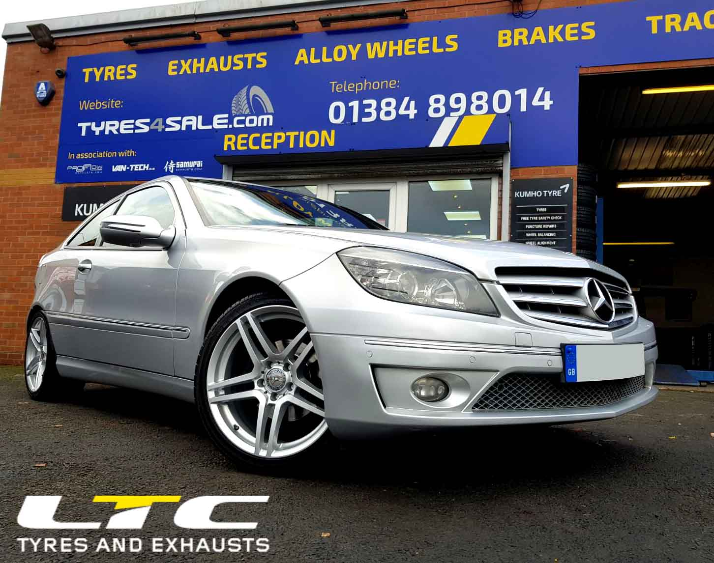 "Mercedes CLC fitted with a set of 18"" DRC DMG Alloy Wheels"