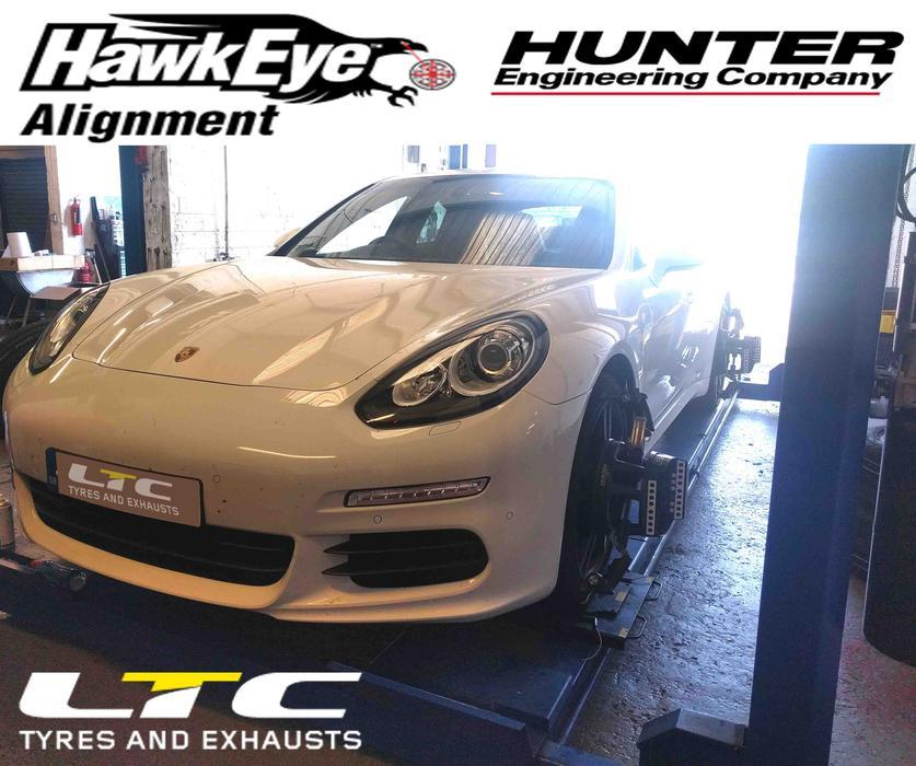 Hunter Hawkeye 4 Wheel Alignment (Tracking) LTC Tyres and Exhausts