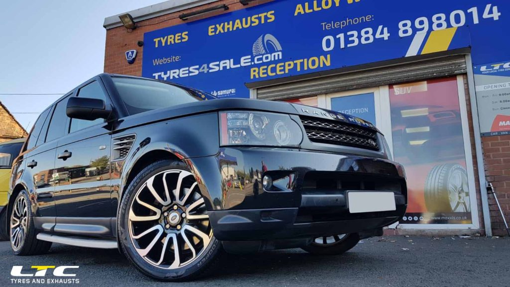 "Set of 20"" ZX1 Alloy Wheels fitted to Range Rover Sport"