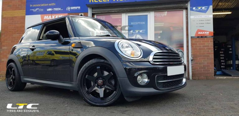 "Wolfrace JDM 17"" Alloy Wheels and tyres for Mini Cooper fitted by LTC Tyres and Exhausts"