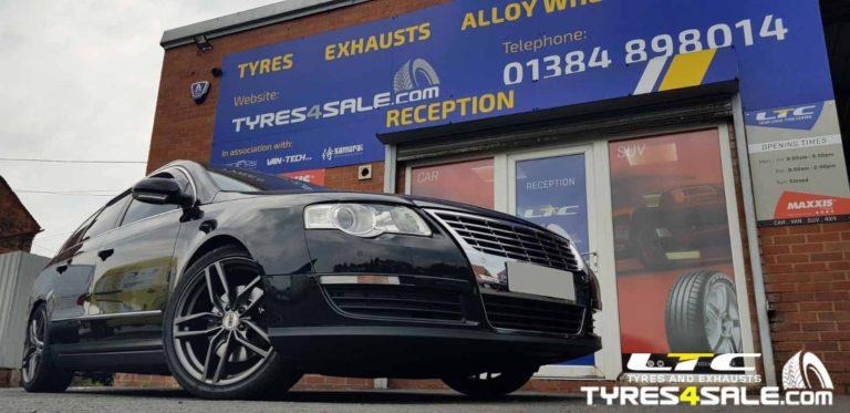 "Set of 18"" inch DRC DRS Alloy Wheels in Gunmetal for VW Passat"