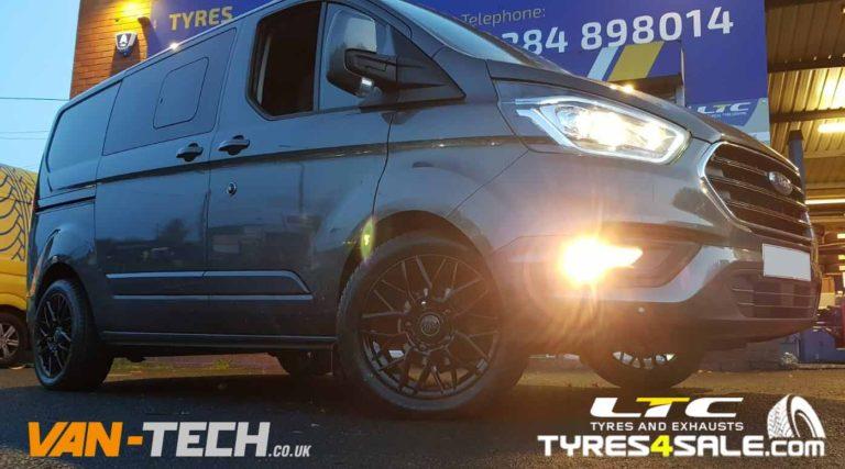 """1AV ZX1 Alloy Wheels in Gloss Black finish 18"""" for Ford Transit"""