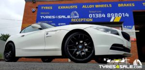 "Set of Gloss Black Riva DTM 19"" Alloy Wheels for BMW Z4"