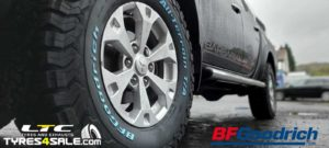 Set of BF GoodRich All Terrain AT KO2 Tyres for Mitsubishi L200 Truck