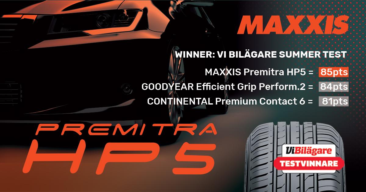 Maxxis Premitra 5 HP5 Wins Vi Bilägare Summer Tyre Test