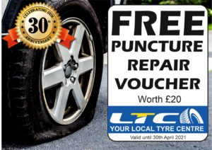 FREE PUNCTURE REPAIR VOUCHER LTC Tyres & Exhausts