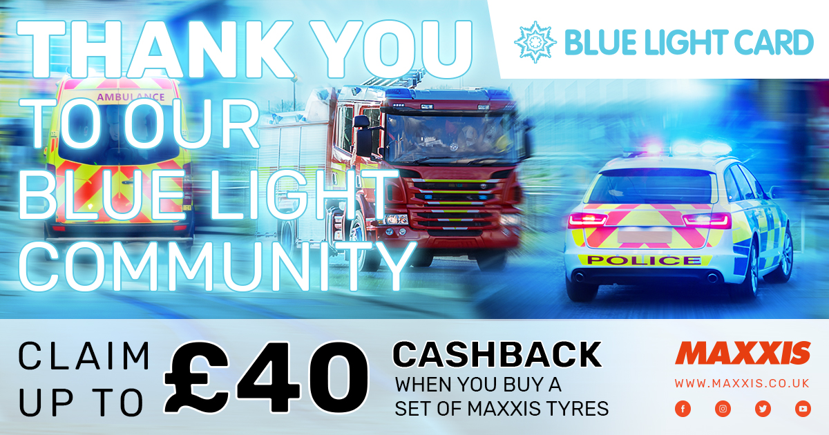 Maxxis Tyres Blue Light Card Discount