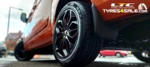 """JBW FST Alloy Wheels 18"""" Gloss Black Ford Transit Custom"""