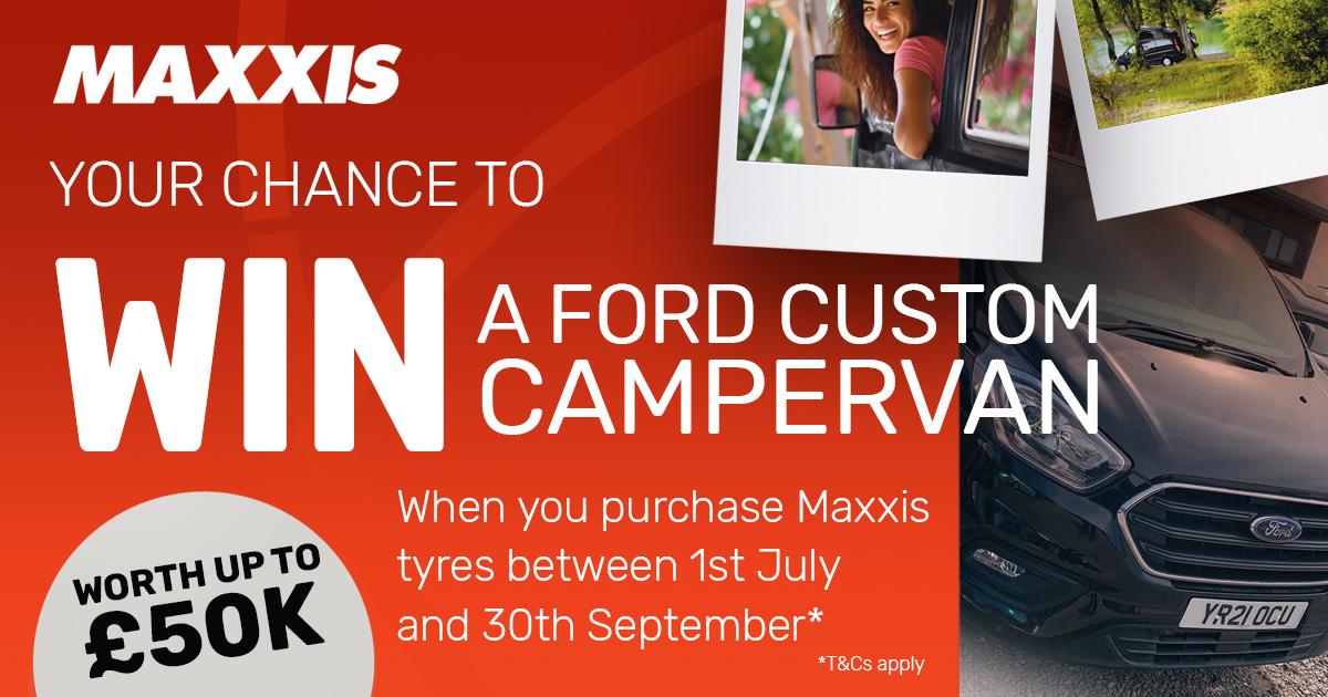 win a Ford Transit Custom Campervan