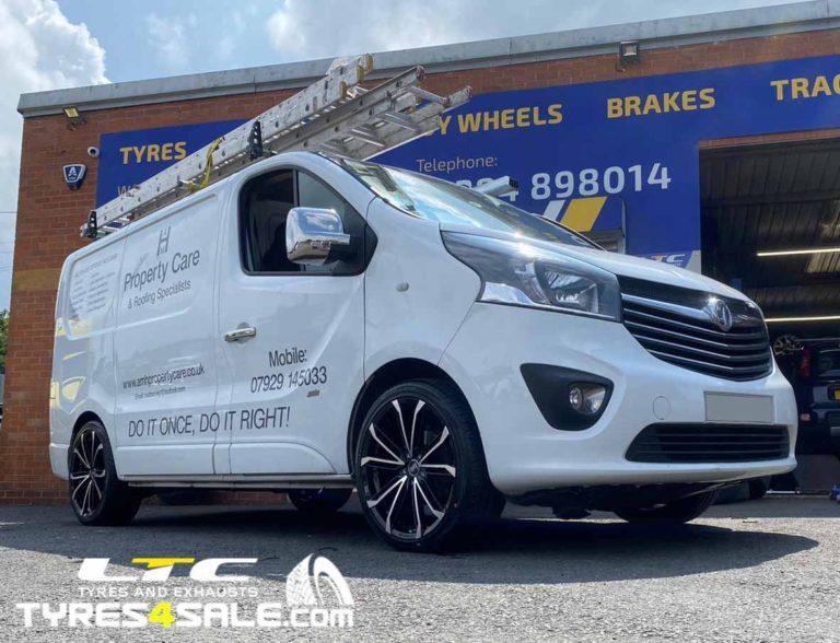 "Vauxhall Vivaro Bola B23 Alloy Wheels 20"" and Mid Range Tyres"