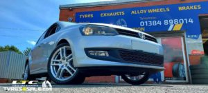 """Dezent TZ 17"""" Alloy Wheels for VW Polo and a set of 215/40 17 Maxxis Tyres"""